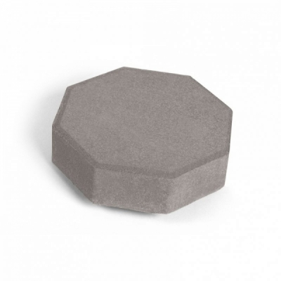 Тротуарная плитка Октава (1О6ф) НОБЕТЕК 240х240х60 серый цемент- полный прокрас, цвет в ассортименте