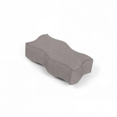 Тротуарная плитка Волна (1В6ф) НОБЕТЕК 240х120х60 серый цемент- частичный прокрас, цвет в ассортименте