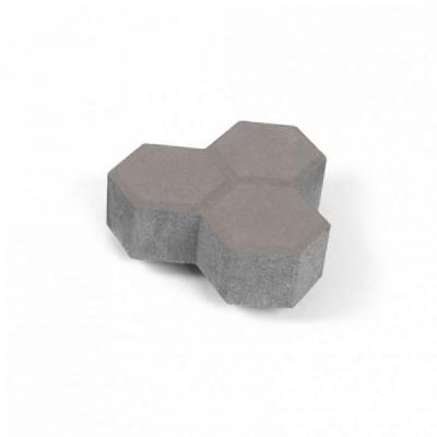 Тротуарная плитка Соты (1С6ф) НОБЕТЕК 200х100х60 Колор-Микс серый цемент- частичный прокрас на сером цементе, цвет в ассортименте