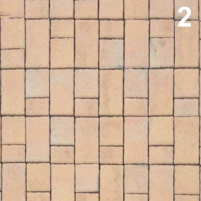 Тротуарная плитка Волна (1В6ф) НОБЕТЕК 240х120х60 Колор-Микс серый цемент- частичный прокрас на сером цементе, цвет в ассортименте