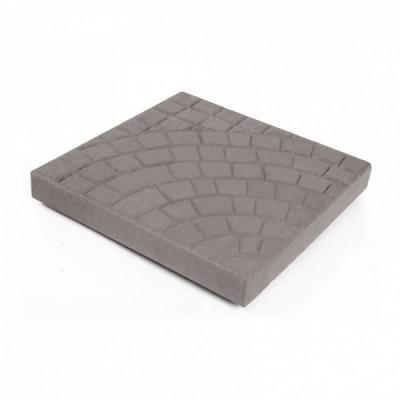 Тротуарная плитка Квадрат (1КД5ф) НОБЕТЕК 300х300х50 Колор-Микс серый цемент- полный прокрас, цвет в ассортименте