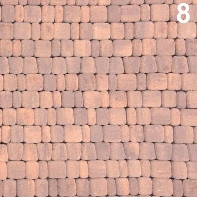 Тротуарная плитка Старый город (1СГ5ф) НОБЕТЕК Колор-Микс серый цемент- частичный прокрас, цвет в ассортименте