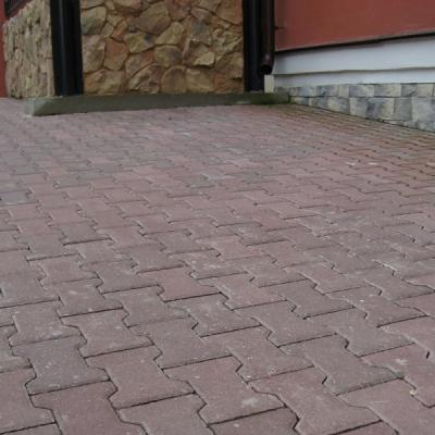 Тротуарная плитка  Катушка (1Ф10ф) НОБЕТЕК 200х165х100  белый цемент- полный прокрас, цвет в ассортименте