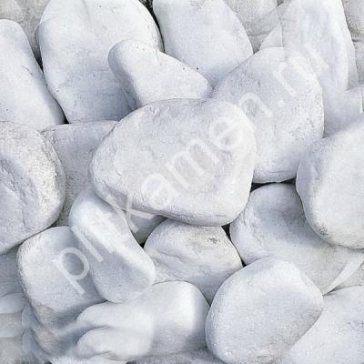 мраморная галька белая галтованная