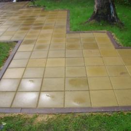 Тротуарная плитка  Квадрат (1КД5ф) НОБЕТЕК 400х400х50 белый цемент- частичный прокрас, цвет в ассортименте
