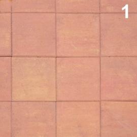 Тротуарная плитка  Квадрат (1К5ф) НОБЕТЕК 400х400х50 Колор-Микс серый цемент- частичный прокрас, цвет в ассортименте