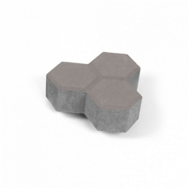 Тротуарная плитка Соты (1С6ф) НОБЕТЕК 200х100х60 серый цемент- частичный прокрас, цвет в ассортименте