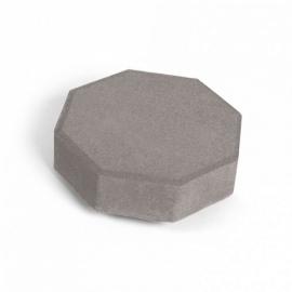 Тротуарная плитка Октава (1О6ф) НОБЕТЕК 240х240х60 серый цемент- частичный прокрас, цвет в ассортименте