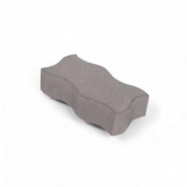Тротуарная плитка Волна (1В6ф) НОБЕТЕК 240х120х60 белый цемент- полный прокрас, цвет в ассортименте