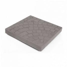 Тротуарная плитка  Квадрат (1КД5ф) НОБЕТЕК 400х400х50 серый цемент- полный прокрас, цвет в ассортименте