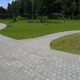 Тротуарная плитка  Квадрат (4К6ф) НОБЕТЕК 100х100х60 белый цемент- полный прокрас, цвет в ассортименте