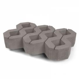 Газонный камень (1РД10) НОБЕТЕК 600х400х100 белый цемент- полный прокрас, цвет в ассортименте