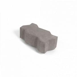Тротуарная плитка  Зигзаг (1И8ф) НОБЕТЕК 225х112,5х80 белый цемент- частичный прокрас, цвет в ассортименте