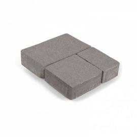Тротуарная плитка  Старый город (1СГ5ф) НОБЕТЕК серый цемент- частичный прокрас, цвет в ассортименте