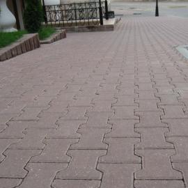 Тротуарная плитка  Катушка (1Ф10ф) НОБЕТЕК Колор Микс 200х165х100 серый цемент- частичный прокрас, цвет в ассортименте