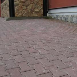 Тротуарная плитка  Катушка (1Ф8ф) НОБЕТЕК 200х165х80  белый цемент- полный прокрас, цвет в ассортименте