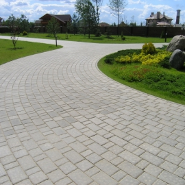 Тротуарная плитка Старый город (1СГ8ф) НОБЕТЕК Колор Микс серый цемент- частичный прокрас, цвет в ассортименте