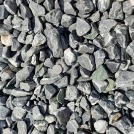 Галька мраморная черная галтованная 20-40 мм