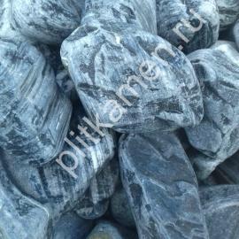 Галька мраморная черная галтованная 50-70 мм