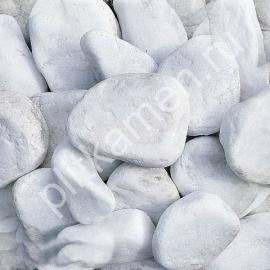 Галька мраморная белая галтованная 20-40 мм