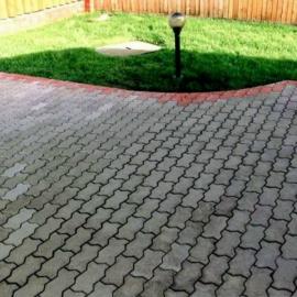 Тротуарная плитка  Зигзаг (1И8ф) НОБЕТЕК  225х112,5х80 серый цемент- полный прокрас, цвет в ассортименте