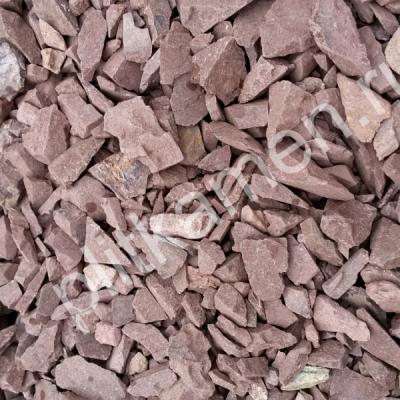 Крошка яшмы сургучная (цвет коричневый)  5-20 мм,  20-40 мм